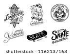 set of skateboarding labels...   Shutterstock .eps vector #1162137163