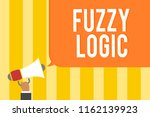 text sign showing fuzzy logic.... | Shutterstock . vector #1162139923