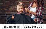 contented cute preschooler boy... | Shutterstock . vector #1162145893