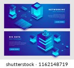 network and big data concept.... | Shutterstock .eps vector #1162148719