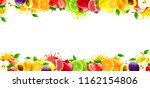 banner with juicy fruits on a... | Shutterstock .eps vector #1162154806