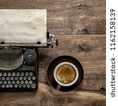 old typewriter with grungy... | Shutterstock . vector #1162158139