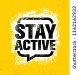 stay active. inspiring creative ... | Shutterstock .eps vector #1162162933