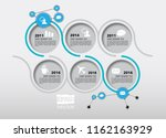 business infographic layout | Shutterstock .eps vector #1162163929