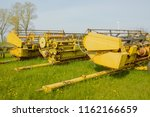 equipment for agriculture on... | Shutterstock . vector #1162166659