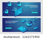mining cryptocurrency and... | Shutterstock .eps vector #1162171903