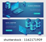 cloud storage and data center... | Shutterstock .eps vector #1162171909