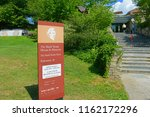 Small photo of HARTFORD, CT, USA - AUG. 16, 2015: Sign of entrance to Mark Twain House. Mark Twain House and Museum was the home of Mark Twain from 1874 to 1871 with American High Gothic style in downtown Hartford