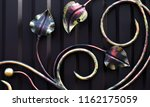 decorative leaves forged from... | Shutterstock . vector #1162175059