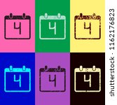 calendar with 4 day  simple... | Shutterstock .eps vector #1162176823