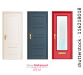 collection doors isolated on... | Shutterstock .eps vector #116218018