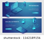 networking and online payments... | Shutterstock .eps vector #1162189156