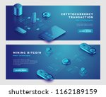 mining bitcoin and... | Shutterstock .eps vector #1162189159