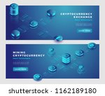 mining bitcoin and... | Shutterstock .eps vector #1162189180