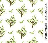 vector seamless plant pattern.... | Shutterstock .eps vector #1162200616