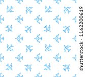 seamless aircraft pattern.... | Shutterstock .eps vector #1162200619