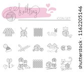 knitting and crochet line icon... | Shutterstock .eps vector #1162205146