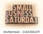 small business saturday word... | Shutterstock . vector #1162206229