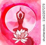 lotus flower and female... | Shutterstock .eps vector #1162207273