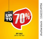 sale up to 70 percent off... | Shutterstock .eps vector #1162214956