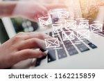 business man using laptop | Shutterstock . vector #1162215859