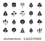 abstract tree icons set. sign... | Shutterstock .eps vector #1162219600
