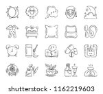 insomnia charcoal icon set.... | Shutterstock .eps vector #1162219603