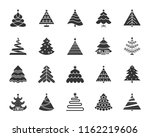 christmas tree icons set. sign... | Shutterstock .eps vector #1162219606