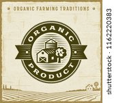 vintage organic product label.... | Shutterstock .eps vector #1162220383