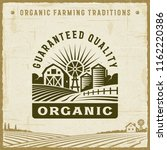 vintage organic guaranteed... | Shutterstock .eps vector #1162220386