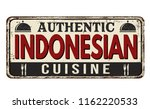 authentic indonesian cuisine... | Shutterstock .eps vector #1162220533