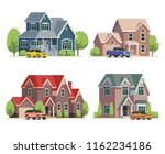 residential building side view. ... | Shutterstock .eps vector #1162234186