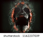 Dark Screaming Skull Emerging...