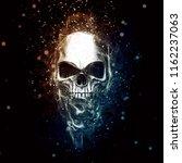 Shiny Chrome Skull   Paticles...