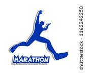 runner symbol design | Shutterstock .eps vector #1162242250