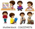 set of tanned boy illustration | Shutterstock .eps vector #1162254076