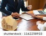 real estate broker residential... | Shutterstock . vector #1162258933