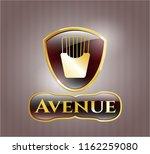 golden emblem or badge with... | Shutterstock .eps vector #1162259080