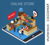 mobile shopping e commerce... | Shutterstock .eps vector #1162264669