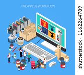 printing house isometric... | Shutterstock .eps vector #1162264789