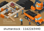 isometric builder architect... | Shutterstock .eps vector #1162265440