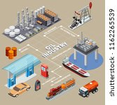 oil industry isometric... | Shutterstock .eps vector #1162265539