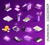 payment methods cash and... | Shutterstock .eps vector #1162265629