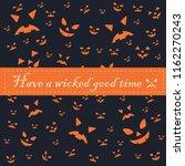 happy halloween background... | Shutterstock .eps vector #1162270243