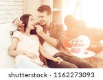 beautiful couple together on...   Shutterstock . vector #1162273093