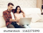 beautiful couple are watching...   Shutterstock . vector #1162273390