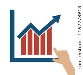 hand pointing at graph icon... | Shutterstock .eps vector #1162278913
