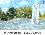 thermometer show subzero... | Shutterstock . vector #1162282906