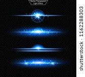 set of glowing light effect.  ... | Shutterstock .eps vector #1162288303