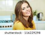 portrait of young smiling woman ... | Shutterstock . vector #116229298